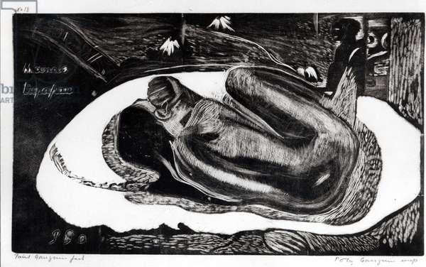 Manao Tupapau I (Elle Pense au Revenant...) 1894-95 (etching)