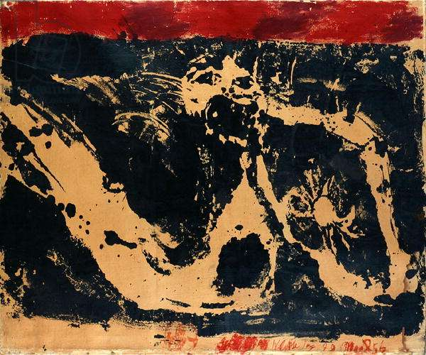 Man, Dragon and Crab, 1956 (gouache, Indian ink & oil on paper)