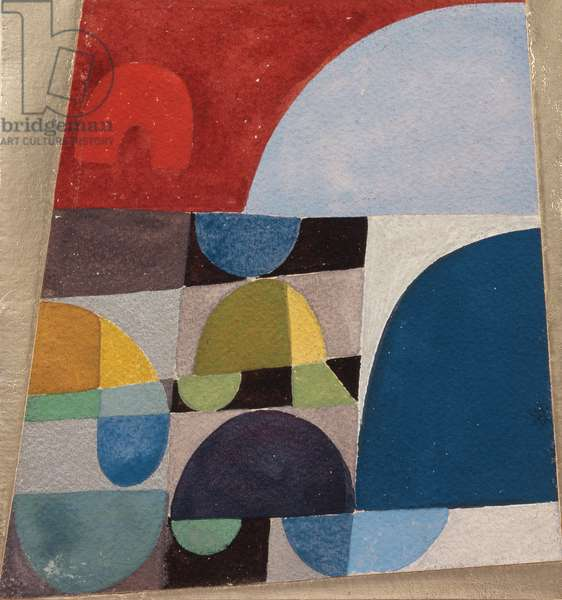 Untitled, 1920 (collage, gouache & foil on paper)