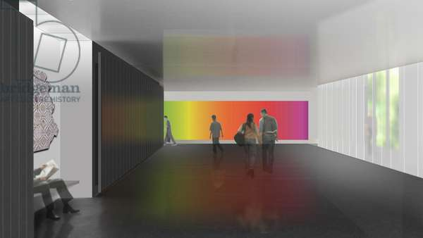 Visualisation for 'Whenever the Rainbow Appears', rendering by James Carpenter Design Associates, 2010 (digital print)