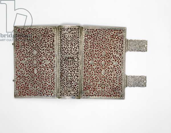 Book Cover for a Bible (pierced and engraved silver)