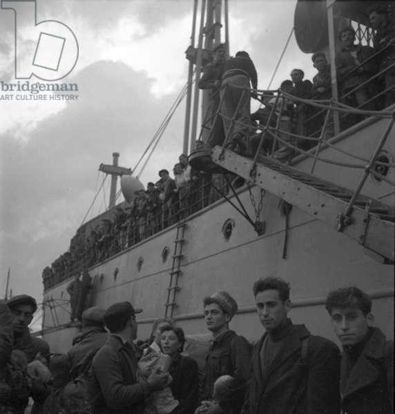 Leaving Cyprus, 1949 (b/w photo)