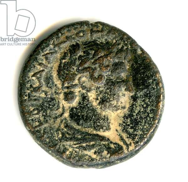 Head of Hadrian, Provincial coin of Hadrian, c.130 (bronze)