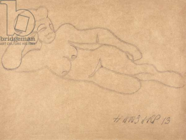 Nude, 1913 (charcoal on paper)