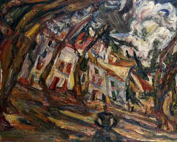Village Square at Ceret, 1920 (oil on canvas)