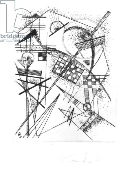 Composition, 1926 (drypoint)
