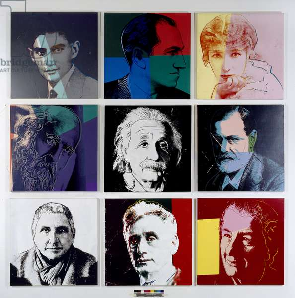 From Ten Portraits of Jews of the 20th Century, 1980 (synthetic polymer paint & silkscreen on canvas)