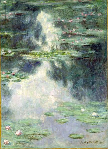 Pond with Water Lilies, 1907 (oil on canvas)