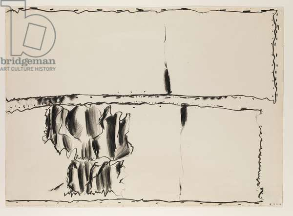 Landscape II, 1960 (black chalk on paper)