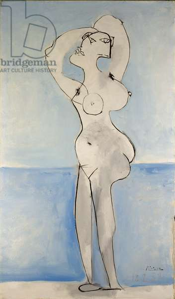 Woman infront of the Sea, 1939 (oil on canvas)