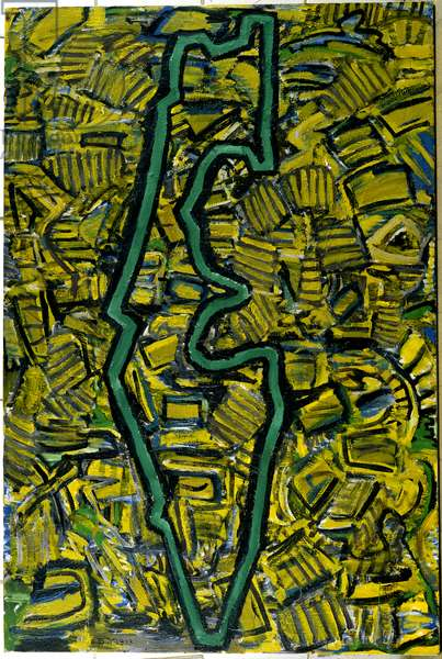 The Green Line, 1985 (acrylic on canvas)