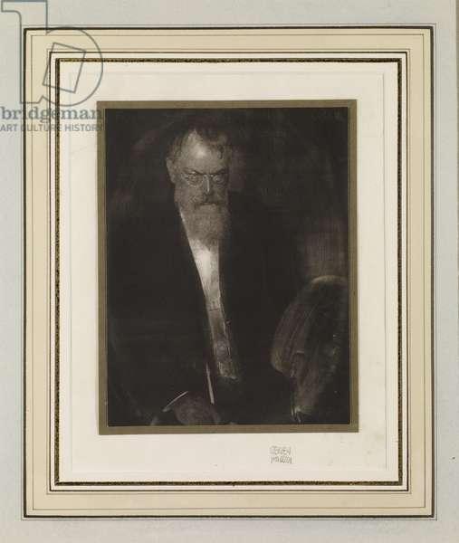 Portrait of Franz von Lenbach, 1901 (waxed bichromate print)