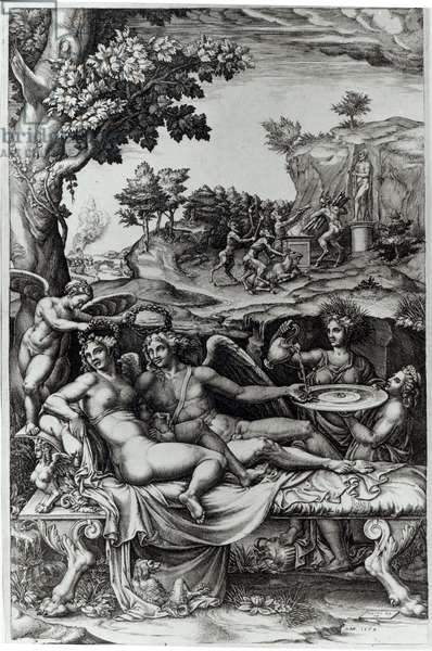 Cupid and Psyche, 1573-74 (engraving)