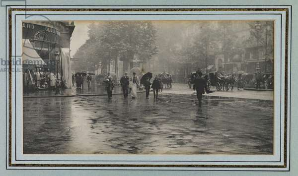 Wet Day on a Boulevard, Paris, 1894 (photogravure)