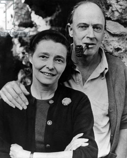 Roald Dahl and his wife