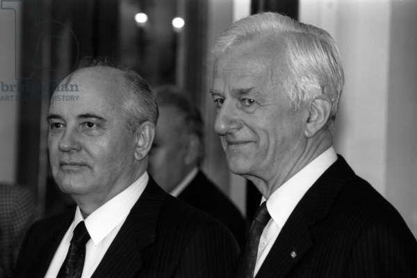 Mikhail Gorbatchev et Richard von Weizsacker