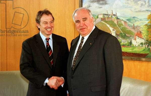 Tony Blair et Helmut Kohl