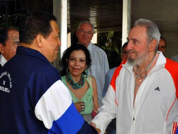 Hugo Chavez et Fidel Castro