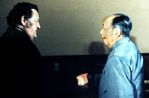 Franz Josef Strauss et Mao Tse Tung