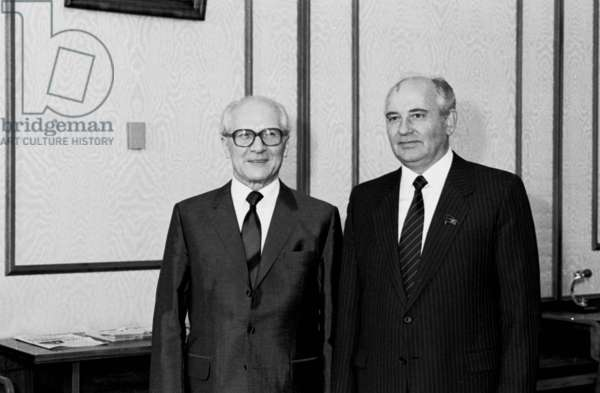 Honecker and Gorbachev