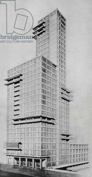 Tribune Tower, competitive design, 1923 (print)