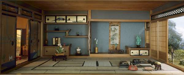 E-31: Japanese Traditional Interior, c.1937 (mixed media)