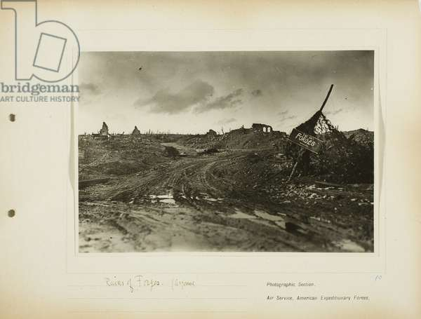 Ruins of Forges (Argonne), 1918-19 (gelatin silver print)