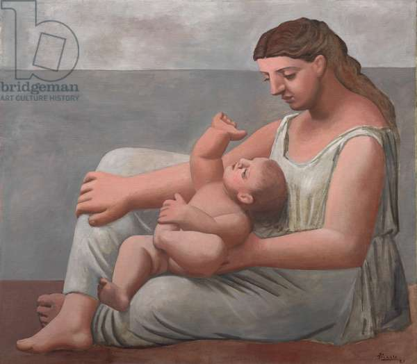 Mother and Child, 1921 (oil on canvas)