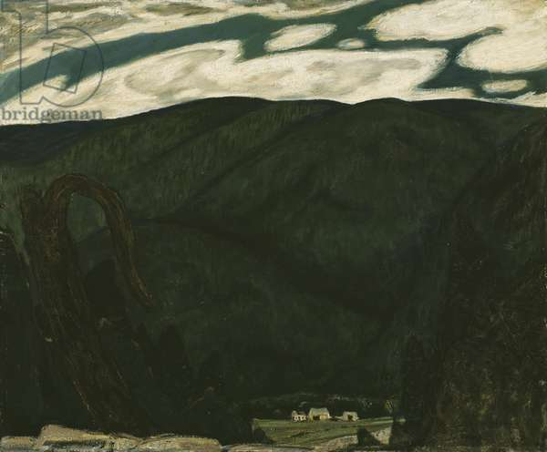 The Dark Mountain, 1909 (oil on composition board)