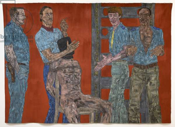 Interrogation II, 1981 (acrylic on canvas)