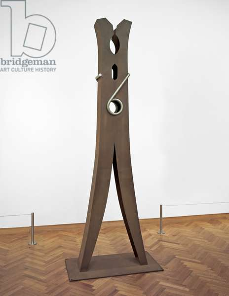Clothespin, 1975 (cor-ten & stainless steel; edition three of three)