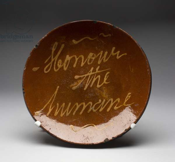 Plate, made in New England, 1790-1850 (earthenware)