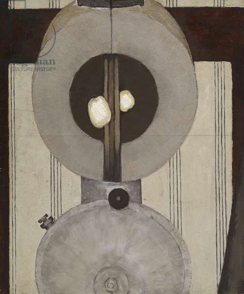Lantern, c.1922 (oil and silver paint on wood)