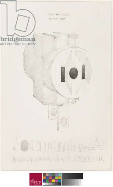Cube Tap, 1966 (graphite on paper)