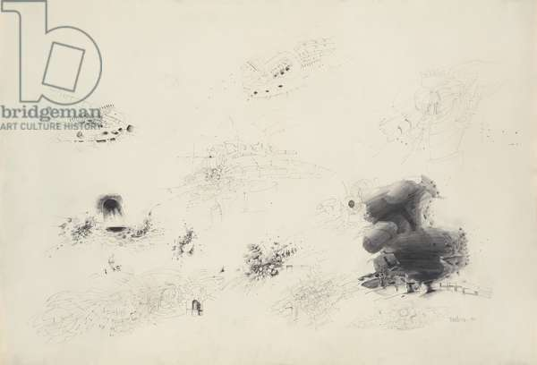 Untitled, 1961 (graphite, with traces of erasing, on cream wove paper)