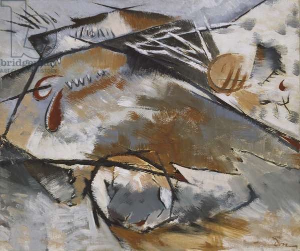 Dogs Chasing Each Other, 1929 (oil on canvas)