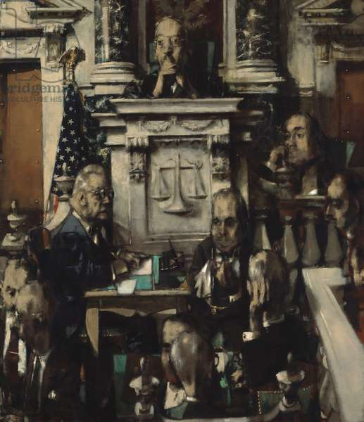 The Trial, 1953-54 (oil on canvas)