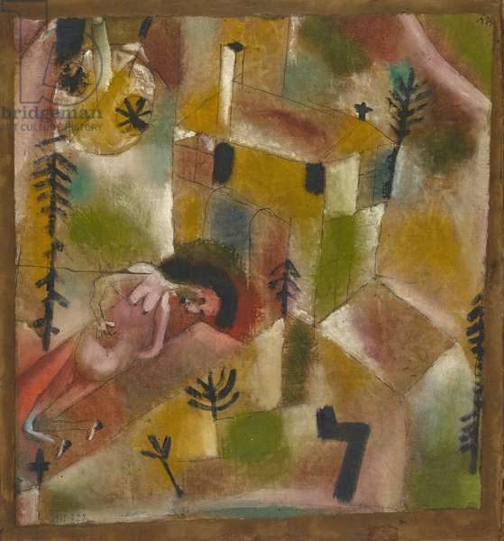 Death in the Garden (Legend), 1919 (oil on cotton, on cardboard nailed to wood)