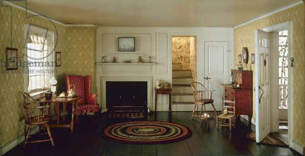 Cape Cod Living Room, 1750-1850, c.1940 (mixed media)