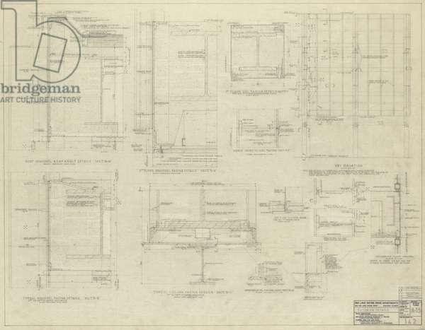 860–880 North Lake Shore Drive: Exterior Details, 1-20-1950 (graphite on linen)