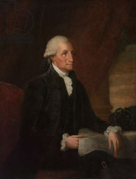 George Washington, 1793 (oil on mahogany panel)