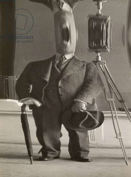 Untitled (Portrait of Carlo Rim, Distortion in Suit), c.1930 (gelatin silver print)