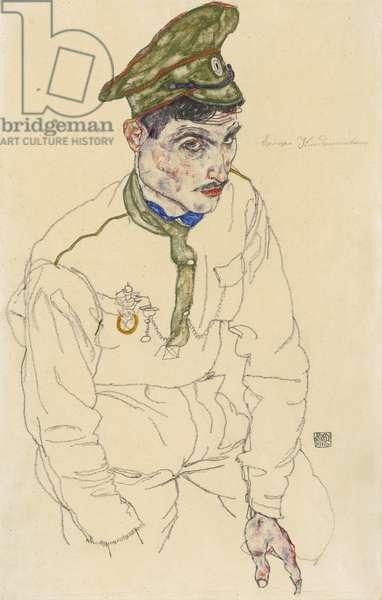 Russian War Prisoner, 1916 (gouache, graphite, and touches of w/c on cream wove paper)