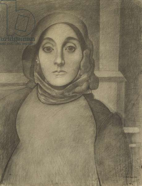 The Artist's Mother, 1926 or 1936 (charcoal on ivory laid paper)