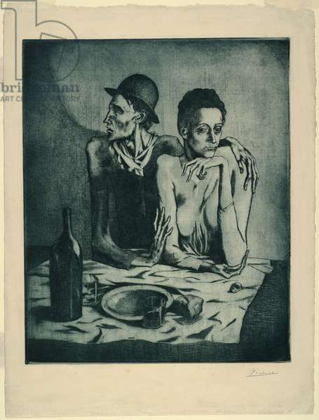The Frugal Meal, from 'The Saltimbanques', September 1904 (etching)