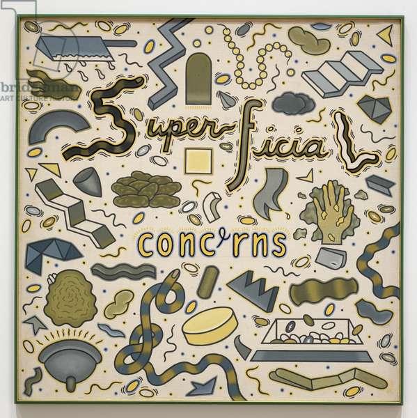 Superficial Concerns, c.1970 (acrylic on canvas)