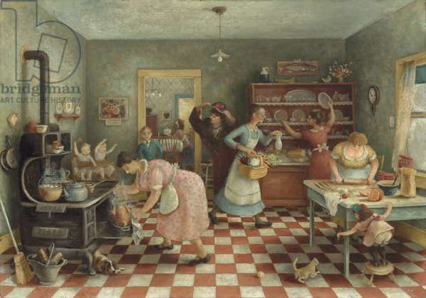 Thanksgiving, c.1935 (oil on canvas)