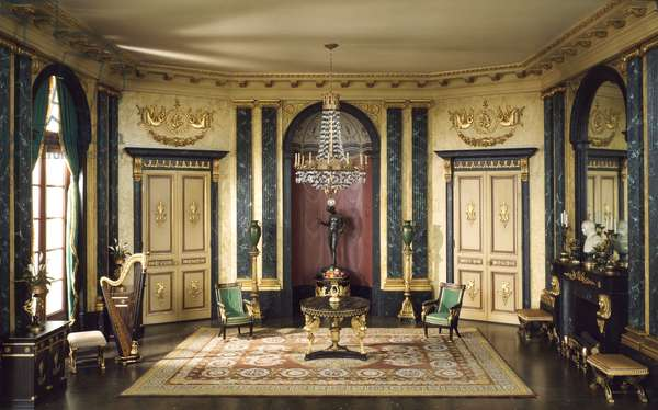 E-26: French Anteroom of the Empire Period, c.1810, c.1937 (miniature room, mixed media)