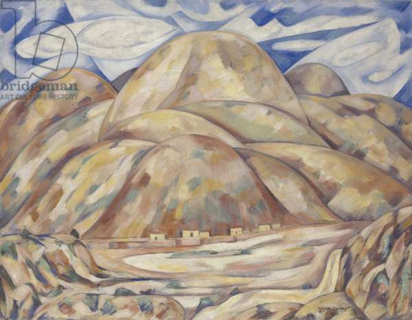 Landscape No. 3, Cash Entry Mines, New Mexico, 1920 (oil on canvas)