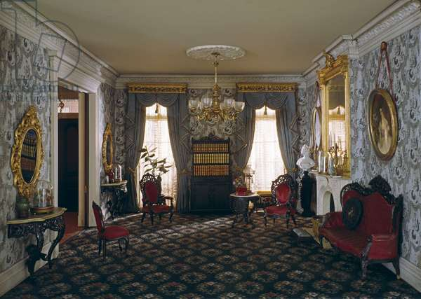 A15: New York Parlor, 1850-70, c.1940 (miniature room, mixed media)